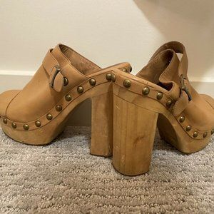 Jeffrey Campbell Woodies Charli-c Wooden Clogs